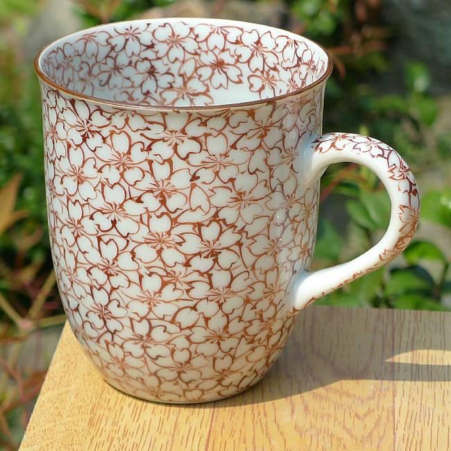 京焼清水焼桜詰湯飲み
