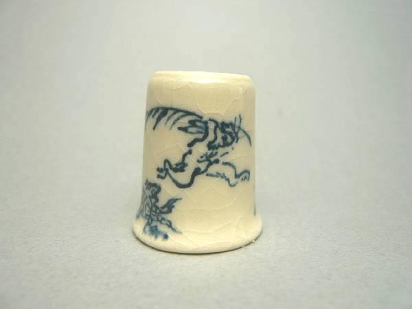 清水焼京焼 指ぬき鳥獣戯画