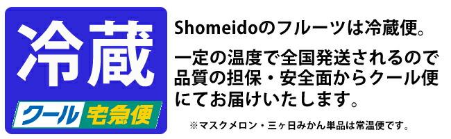 Shomeidoの夏フルーツは冷蔵便