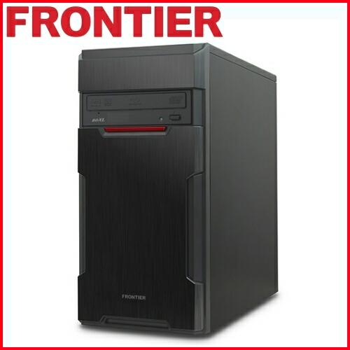 デスクトップパソコン [Windows10 Core i3-7100 8GB メモリ 275GB SSD 1TB HDD] FRGXH110 E50 FRONTIER(フロンティア)【新品】【FR】