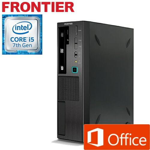 【新品】FRONTIER(フロンティア)省スペース Windows10 Core i5-6400 8GB メモリ 1TB HDD FRFSH110B/E2【FR】