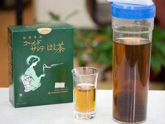 ゴールドサンテはと茶は夏は水出しのアイスがおすすめ
