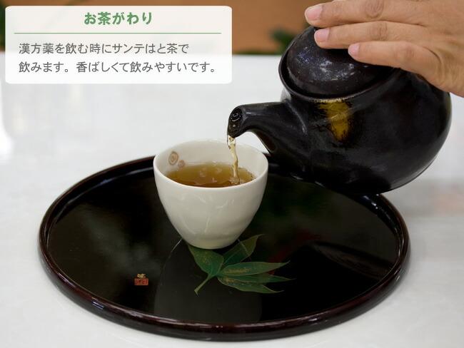 国産発芽はと麦を原料にしたゴールドサンテはと茶