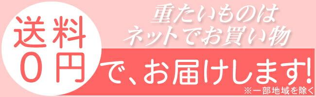 送料無料 (重たい物はネットで買うといいね〜)