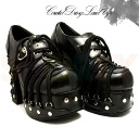 [#SH-AHC-146] Gothic Lolita & punk featured Gothic Lolita / punk 4.5 inciladieshayheelpamps and imports shoes [large size and] /blk/10-12/pumps