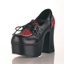 4 ゴスロリ / flat three-quarters inch Lady's high-heeled shoes pumps / import shoes