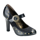 [#SH-TESP-03] Gothic Lolita / punk 4 inciladieshayheelpamps and imports shoes [large size and] /blk/10-12/pumps