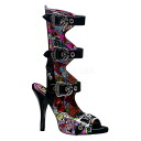 4 [#SH-ZOMP-102] ゴスロリ / flat half inch Lady's high-heeled shoes open toe sandals / import shoes pumps / import shoes boots / import shoes