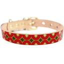 Graphic real leather collar brass pure metal fittings size SS - L belt 16mm in width ##23116 which is Framer art