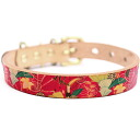 Graphic real leather collar brass pure metal fittings size SS - L belt 16mm in width ##23124 which is Framer art