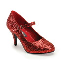 Low heel glitter pumps / import shoes