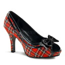 [#SH-PREPPY-03X]4 inch opening toe pumps / import shoes