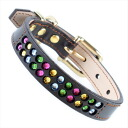 [#A1014-SS]SAKURA DOGWARE soft leather スワロフスキーエレメンツ rhinestone brass pure metal fittings SS collar (small dog, / neck circumference 18.5-28.5cm for microminiature dog, cats) A1014