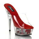 5.75 inches of high-heeled shoes / pin heel thickness bottom flower Barak rear sandals / import shoes