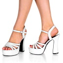 [#SH-DOLP-25] 5 inch heels soled sandals and imports shoes [large size and] /wht/12-14/sandal