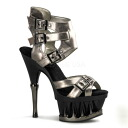 [#SH-SPIP-626] 6 inch heels / pinherladies Sandals / shoes imports [large size and] /gry/14-16/sandal