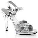 [#SH-PFLA-419G] 4.5 inch heels / pinherladies sandals and imports shoes [large size and] /slv/10-12/sandal