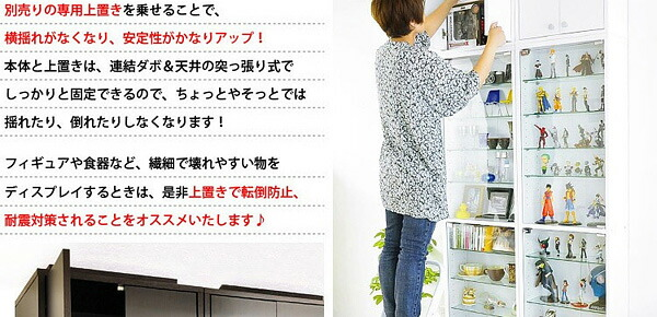 コレクションラック【ルーク】浅型ハイタイプ(専用上置き)
