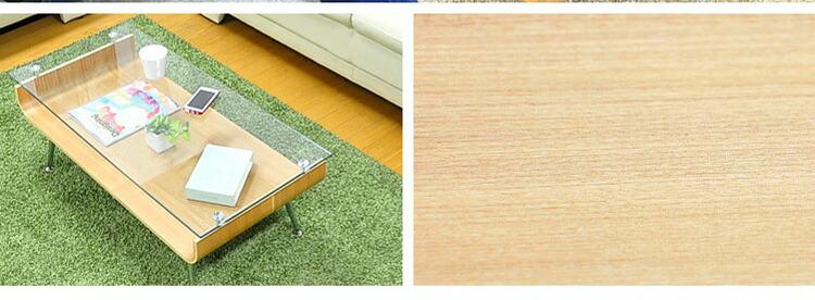 曲げ木ガラステーブル