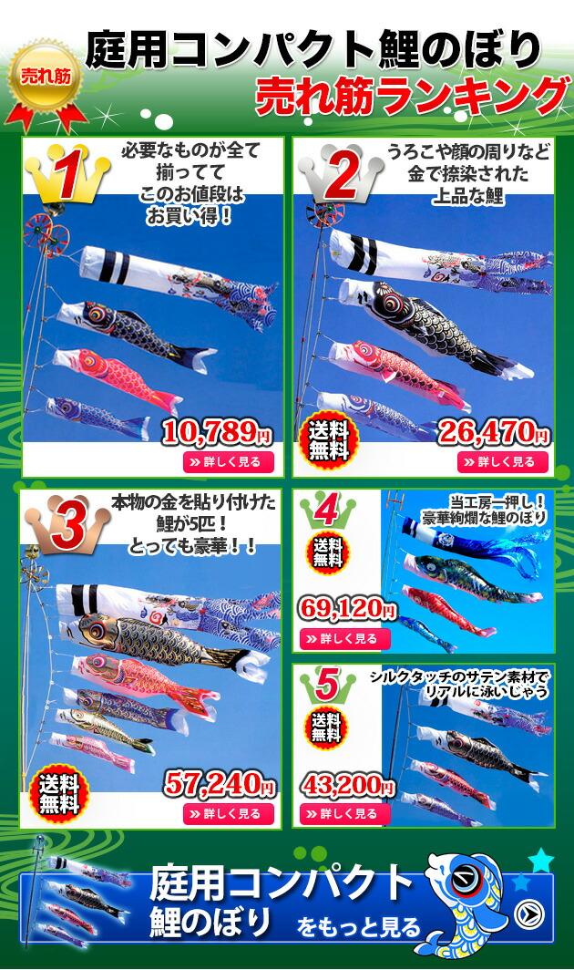 庭用鯉のぼり売れ筋ランキング