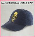Rakuten champions sale, victory Memorial Rugby men's Cap of セールラルフローレン FADED SKULL & BONES CAP Navy (3924644) (S/M/L/XL)