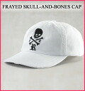 Ralph Lauren rugby men cap FRAYED SKULL-AND-BONES CAP white (3551554) (super sale, super SALE,'s greatest point 10 times!) Point up, same day shipment, new work)