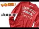 AeroPOS tail men Ron T LONG SLEEVE VARSITY THERMAL GRAPHIC T orange (1457)(XS,S,M,L,XL)( same day shipment, 100% genuine article, regular article, shop buying, men's big size, new work, American casual)
