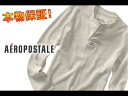 Aeropostale mens long T LONG SLEEVE CLASSIC WAFFIE HENLEY vanilla (1587) (S, M, L, XL) (father's day gifts, men's, new, more than 10,800 yen, Rakuten lows challenge! , Plus size, genuine)