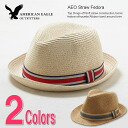 Rakuten champions sale, victory Memorial セールアメリカンイーグル men's straw hat AE RELAXED STRAW FEDORA natural (1223-1518) (S/ML/XL)