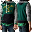 ★ 2014 new fall! American Eagle AE men's parka AE Signature Hooded Pop Over raged green (9134) (S, M, L, XL, XXL) (at more than 10,800 yen,, in large size, 100% genuine, new, cheapest Rakuten to challenge! )