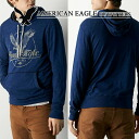 ★ new year 2015! American Eagle AE men's parka AE Signature Hoodie T-Shirt Indigo (1175-2720) (S, M, L, XL, XXL) (at more than 10,800 yen,, in large size, 100% genuine, new, cheapest Rakuten to challenge! )