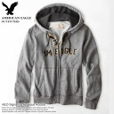 ★ new year 2015! American Eagle AE men's Parker AEO Factory Signature Applique Hoodie grey HESA (0196 _ 9203) (S, M, L, XL, XXL) (at more than 10,800 yen,, in large size, 100% genuine, new, cheapest Rakuten to challenge! )