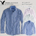 Rakuten champions sale, victory Memorial セールアメリカンイーグル mens casual shirt AE SLIM FIT BUTTON-SHIRT (4 color) (S/M/L/XL)