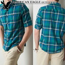 ★ 2014 new fall! American Eagle AE men's flannel shirt AE Plaid Button Down Shirt green (S, M, L, XL, XXL) (at more than 10,800 yen,, in large size, 100% genuine, new, cheapest Rakuten to challenge! )