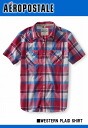 An aeroPOS tail men short-sleeved casual shirt WESTERN PLAID SHIRT pink (9844)(S,M,L,XL)( men, new work are deep-discount and challenge sale ,SALE, low! American casual of popularity, brand)
