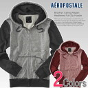 ★ 2014 new fall! Aeropostale mens parka Raglan Heathered Full-Zip Hoodie 2 color (4301) (S, M, L, XL) (same day shipping,, 100% real, genuine, retail store purchases, men, large size, new, casual, Parker)