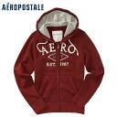 ★ 2014 new fall! Aeropostale mens parka Aero Full-Zip Hoodie Crimson (4539) (S, M, L, XL) (over 10,800 yen, who, in large size, 100% genuine, new, cheapest Rakuten to challenge! )
