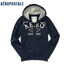 ★ 2014 new fall! Aeropostale mens parka Aero Full-Zip Hoodie deep Navy (4539) (S, M, L, XL) (over 10,800 yen, who, in large size, 100% genuine, new, cheapest Rakuten to challenge! )
