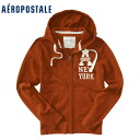 ★ 2014 new fall! Aeropostale mens parka Aero Full-Zip Hoodie Brown (4531) (S, M, L, XL) (over 10,800 yen, who, in large size, 100% genuine, new, cheapest Rakuten to challenge! )