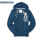 ★ 2014 new fall! Aeropostale mens parka Aero Full-Zip Hoodie blue steel (4531) (S, M, L, XL) (over 10,800 yen, who, in large size, 100% genuine, new, cheapest Rakuten to challenge! )