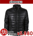 AeroPOS tail men batting jacket SOLID PUFFER JACKET black (0734)(S,M,L,XL)( same day shipment, 100% genuine article, regular article, shop buying, men's big size, new work, American casual)