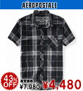 Rakuten champions sale, victory Memorial セールエアロポス tail mens casual shirt SKATE PLAID WOVEN SHIRT-storm (9903) (S, M, L, XL)
