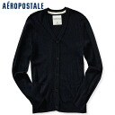 AeroPOS tail men sweater HEATHERED CARDIGAN deep navy (8529)S,M,L,XL)(100 % genuine article, regular article, shop buying, men's big size, new work, American casual)
