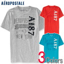 Three colors of AEROPOSTALE/ aeroPOS tail men short sleeves T-shirt A87 GRAPHIC T (7055)(S,M,L,XL)(100 % genuine articles, regular article, shop buying, men's big size, new work, American casual)