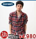 Old navy OLD Men's Long-Sleeve Plaid Shirts red (576166012) (S,M,L,XL)( men, a new work are deep-discount and challenge sale ,SALE, low! American casual of popularity, brand)
