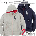 Polo Ralph Lauren Boys parka Active Full-Zip Hoodie (two colors) (POLO RALPH LAUREN)(23946766)(S,M,L,XL)( men, a new work are deep-discount and challenge sale ,SALE, low! American casual of popularity, brand)