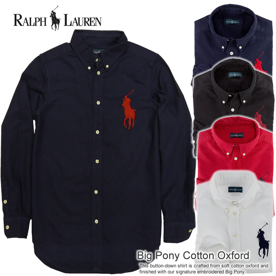 Ralph Lauren Men's White Big Pony Short Sleeved Shirts