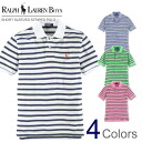 The best Rakuten in Japan sale, all Japan's commemorative sale polo Ralph Lauren Boys short sleeves polo shirt horizontal stripe one point Short-Sleeved Striped Polo four-colored (POLO RALPH LAUREN)(15673526)(S/M/L/XL), American casual, polo shirt, short