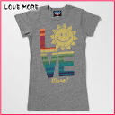 A junk food lady's short-sleeved T-shirt LOVE MORE steal (S,M,L,XL)( men, new work are deep-discount and challenge sale ,SALE, low! American casual of popularity, brand)
