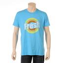 Local celebrity men T-shirt FRESH^^ Brightman blue (100% genuine article, regular article, shop buying, men's big size, new work, American casual)